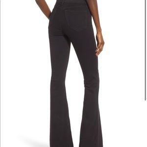 TOPSHOP Black Flare Jeans